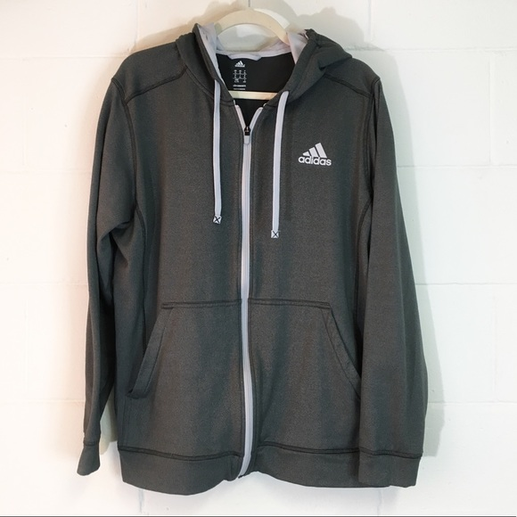 adidas Other - Men's Adidas Climawarm Dark Gray Zip Up Hoodie